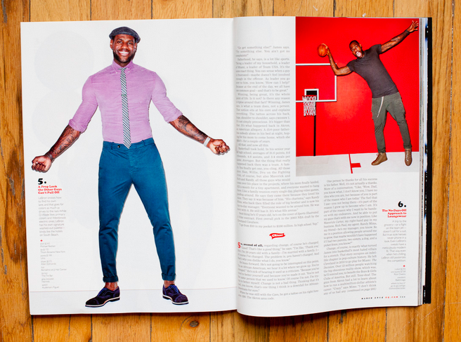 LeBron James poses for Terry Richardson.