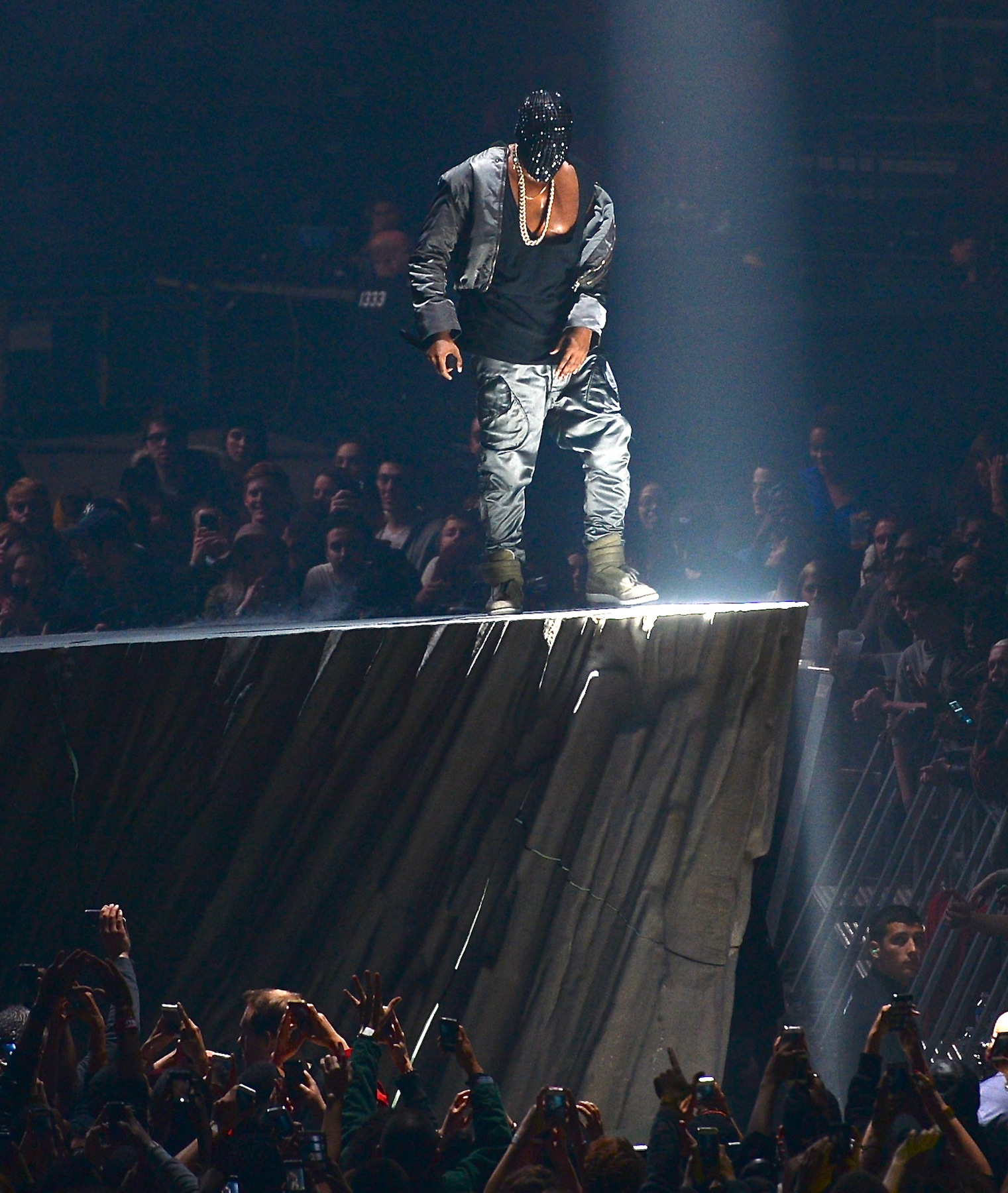 Kanye West performs on Yeezus Tour in NJ