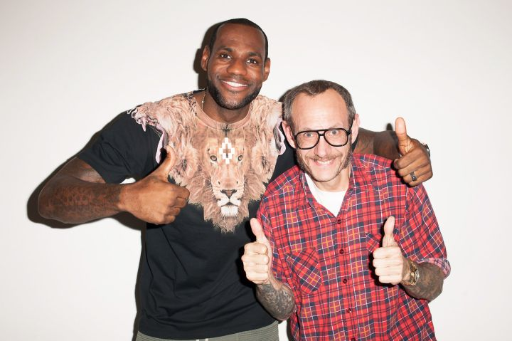 Terry Richardson and LeBron James