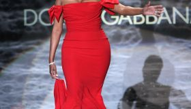 nene leakes red dress collection fashion week runway