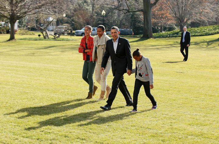 The First Family returns to the White House after a little R&R in Hawaii.