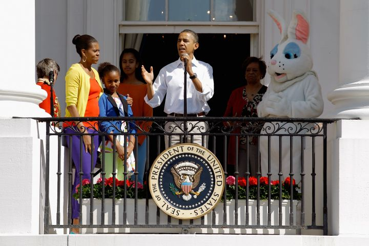 The Obamas celebrate spring in color for Easter.