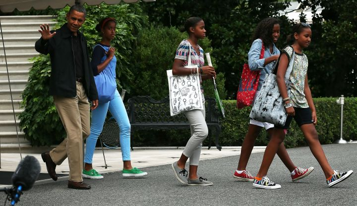 The First Family heads to Camp David and hit their strides in stylish sneakers.
