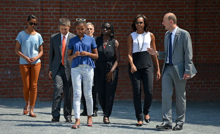 The Obama girls visit Berlin in style.