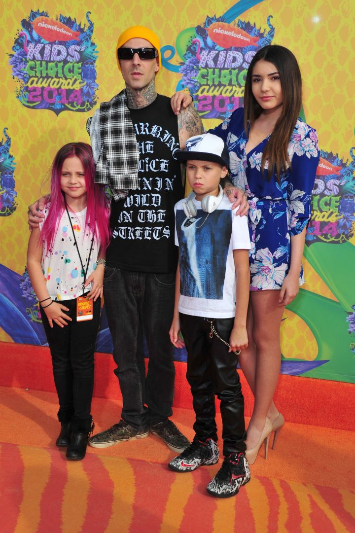 Travis Barker and family are rock on for the Nickelodeon Kids' Choice Awards