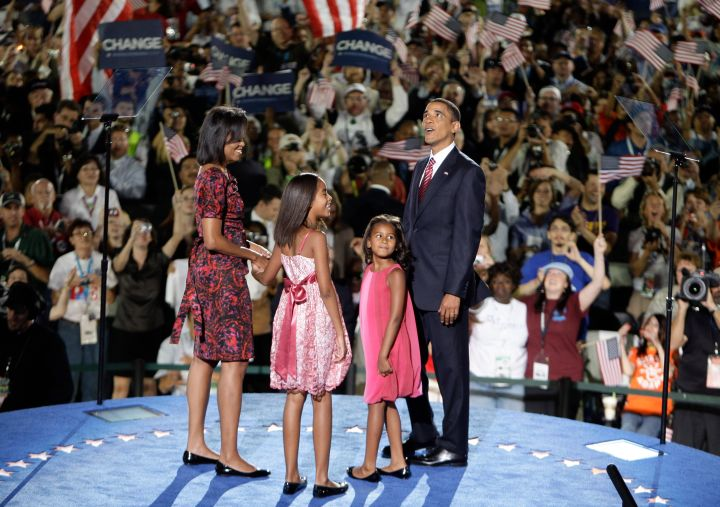 The First Family is perfect in pink at the DNC.