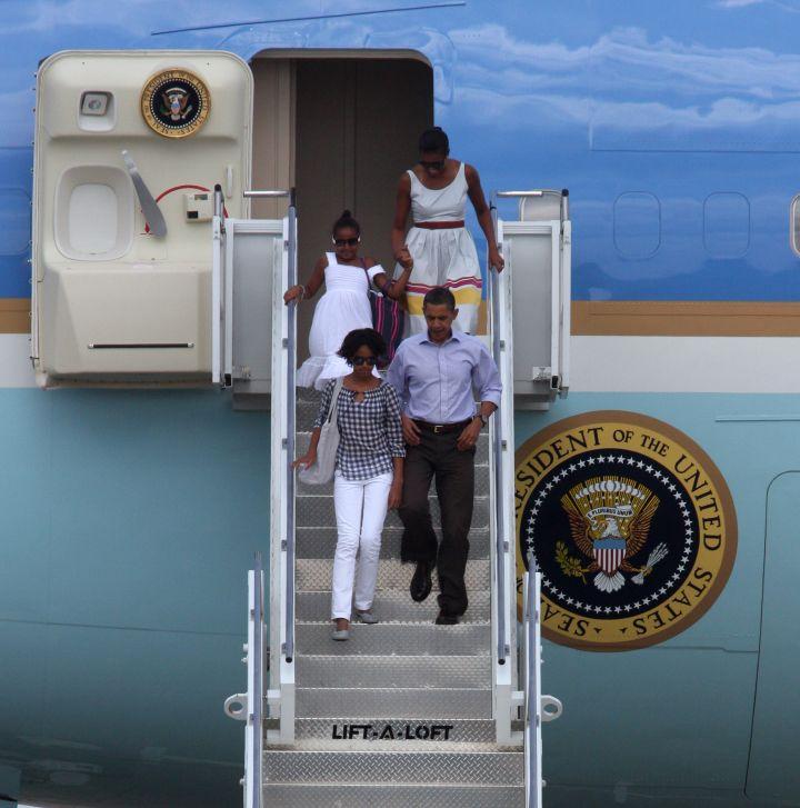 The Obamas visit Martha's Vineyard in appropriate attire.