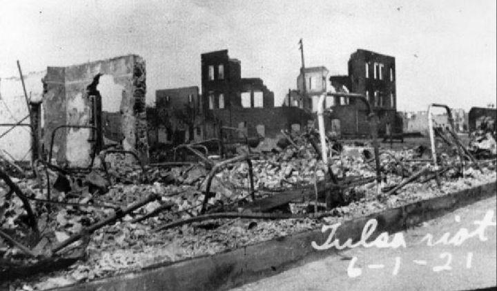 Destruction Of Black Wall Street In Tulsa