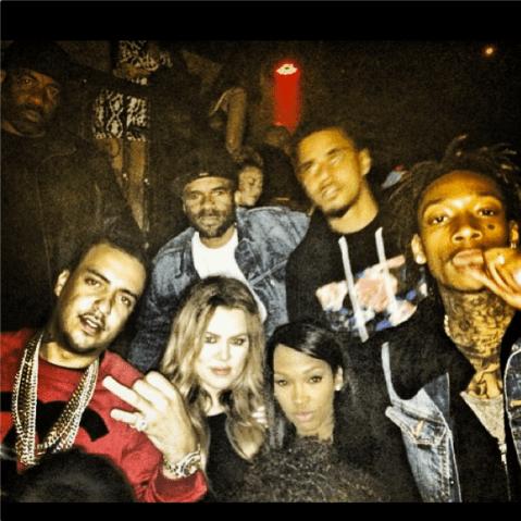 Khloe Kardashian Wiz Khalifa J. Cole French Montana Instagram