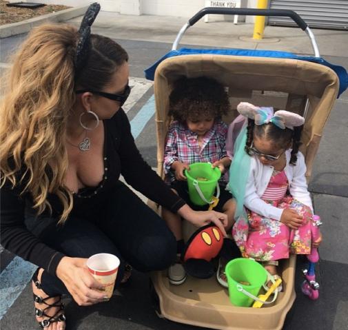 Mariah Carey dem babies Disneyland