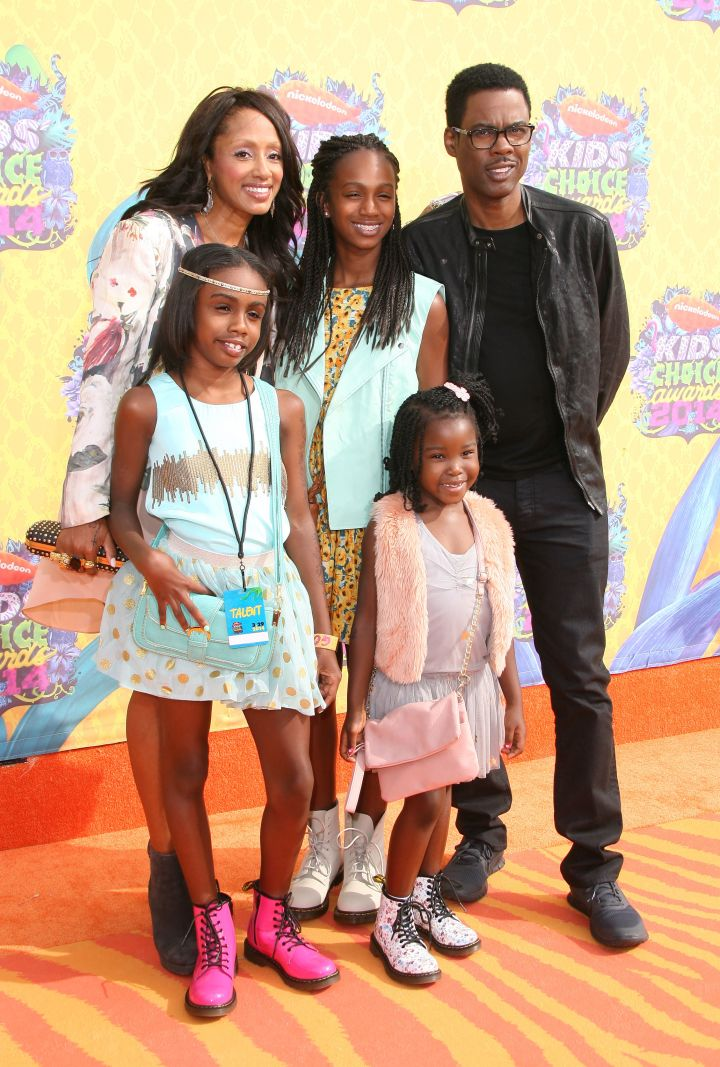 Chris Rock and family at the 2014 Nickelodeon Kids' Choice Awards