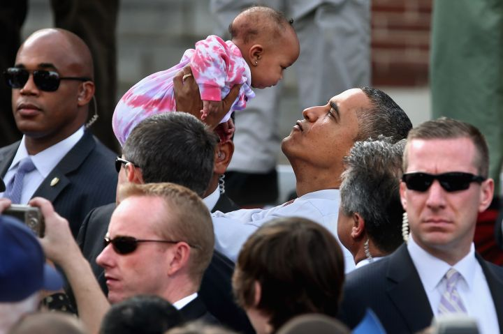 Obama and Baby Face-Off's. They are definitely a thing.