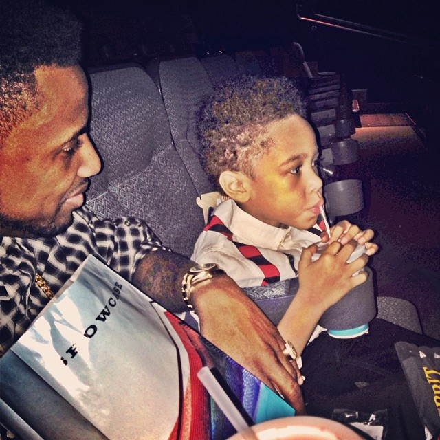 Prince Joso goes to the movies with his pops.