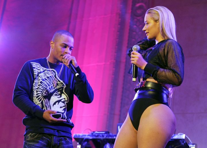Iggy On Stage With Her Mentor T.I.