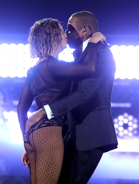 """No one can forget the epic PDA and ass-grabbing during their performance of """"Drunk In Love"""" at this year's Grammy Awards. Surfboard."""
