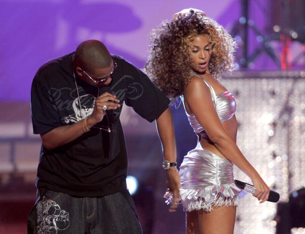 """At the 2006 BET Awards, Jay felt a little frisky during their """"Deja Vu"""" performance. I bet Bey was thinking, """"You gon' need help tryna study my bounce."""""""