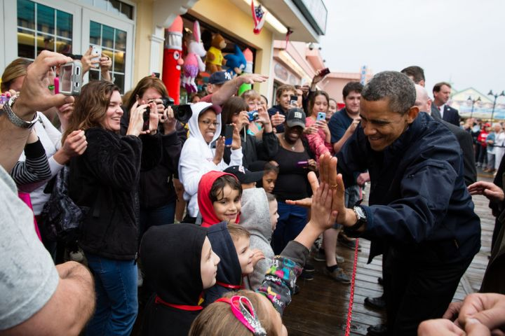 There's nothing like high fives from the president.