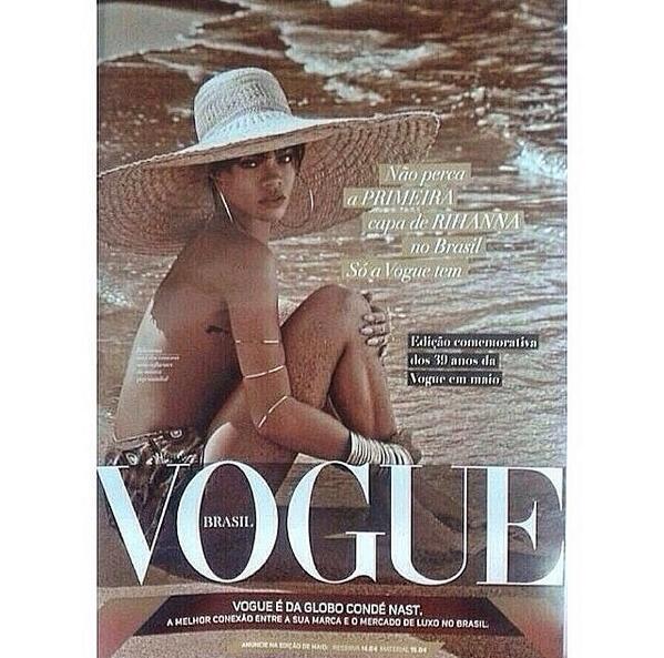 Rihanna alleged brazil vogue cover