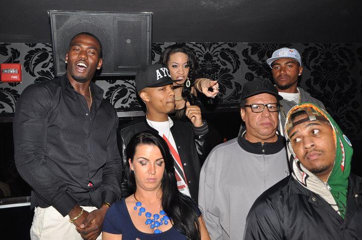 Bow Wow and the Washington Redskin's DeSean Jackson in VIP.