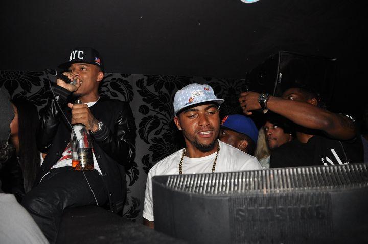 Bow Wow and DeSean Jackson take the mic.