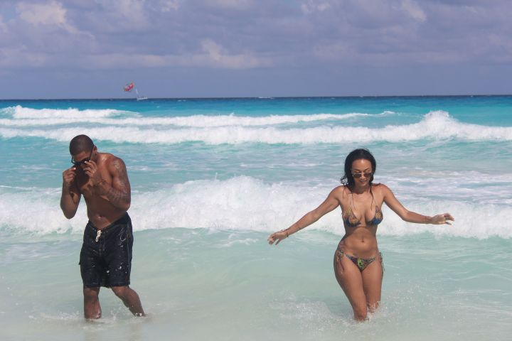 Draya getting wavy with her bae.