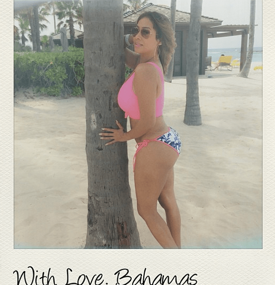 Lala Anthony shows off her bikini body in the Bahamas