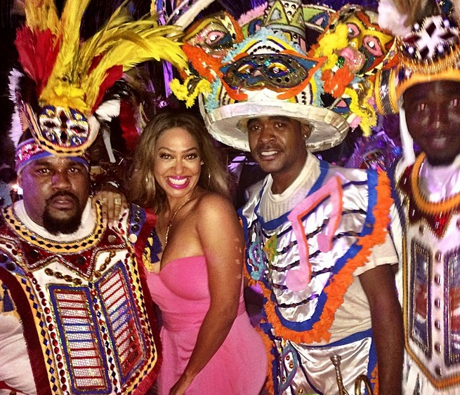 Lala Anthony has tons of fun in the Bahamas