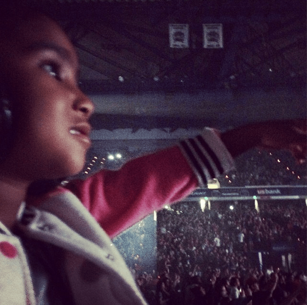 Watching Mommy Perform On Stage.