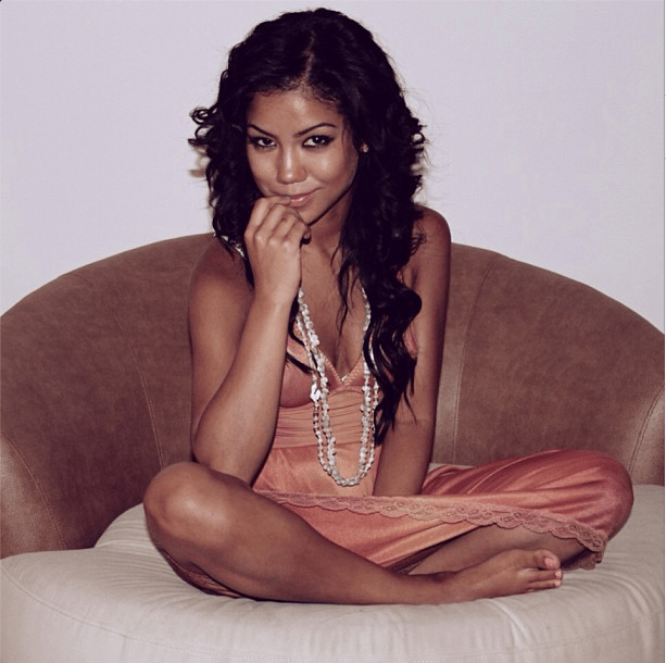 Even just sitting there, Jhene is quite sexy.