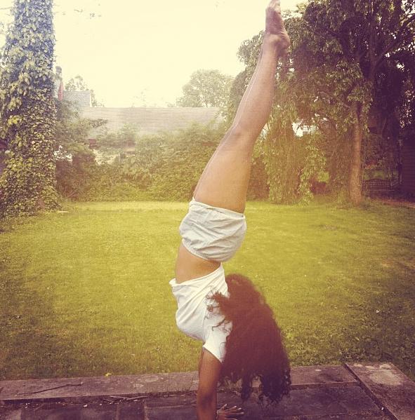 Because she's a yogi.