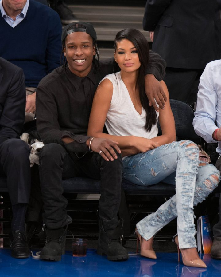 Chanel Iman & A$AP Rocky are picture perfect at Madison Square Garden.