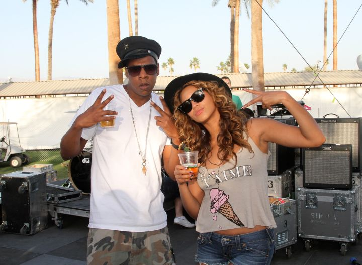 In another moment from Coachella 2010, Jay and Bey post up for the camera.