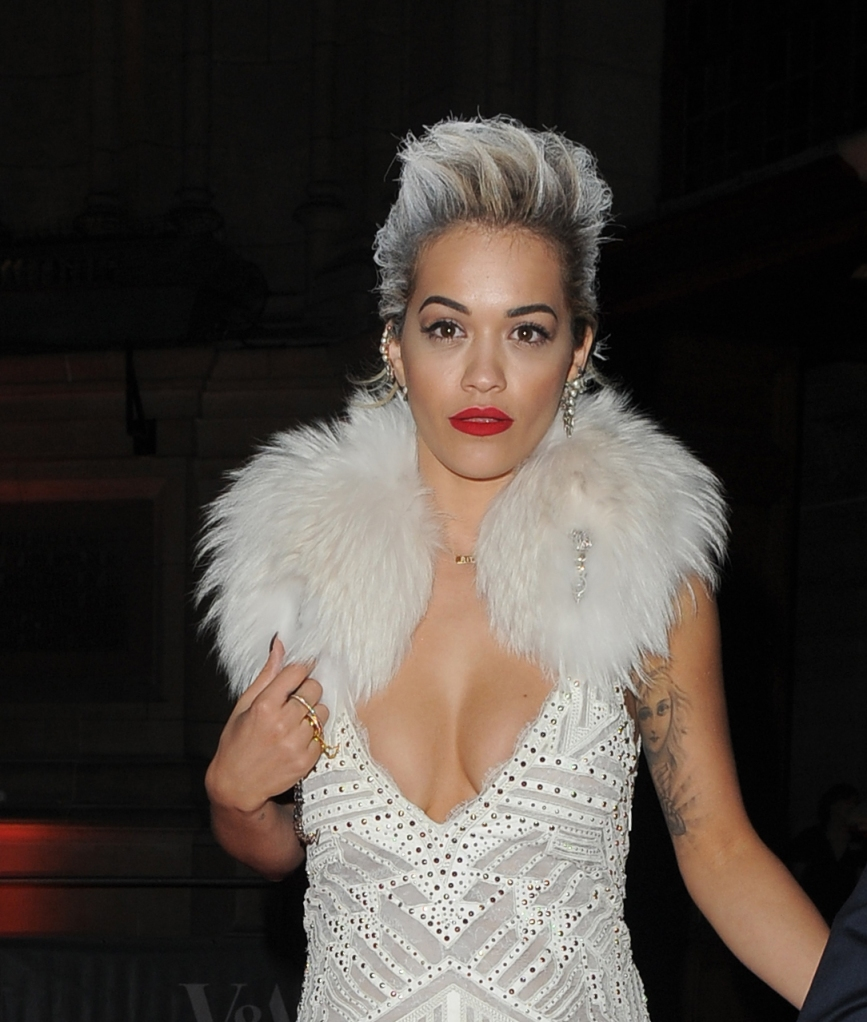 Rita Ora leaving The Glamour of Italian Fashion dinner