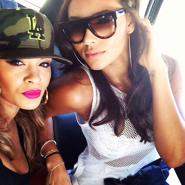 Evelyn Lozada and her daughter, Shaniece Hairston, enjoy Mother's Day together.