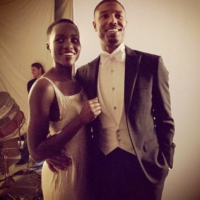 Successful sexy chocolate, what a great combo. Michael B. Jordan and Lupita Nyong'o looking posh posing for the paparazzi.