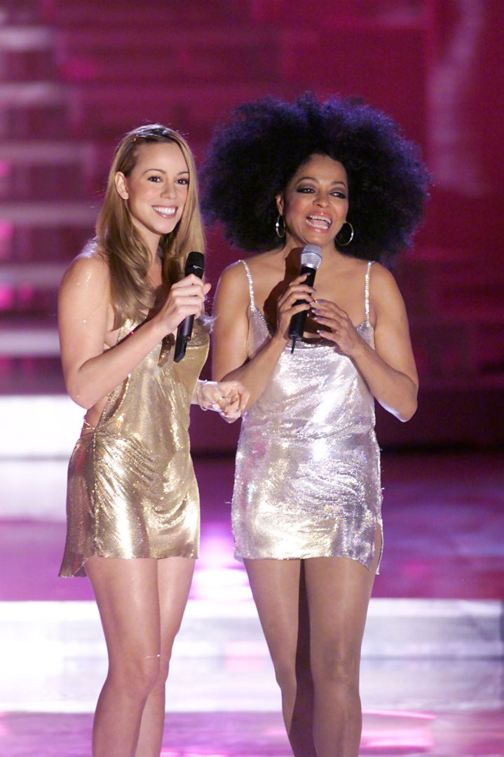 Mariah with the legendary Diana Ross.