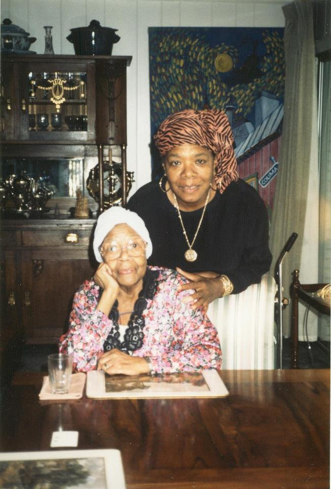 """Maya Angelou pictured with her own """"phenomenal woman,"""" her mother Vivian Baxter Johnson."""