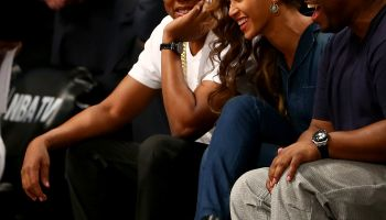 jay z beyonce courtside nets miami heat game