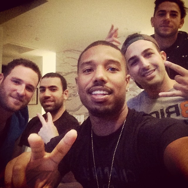 Chilling with the homies. Selfie time!