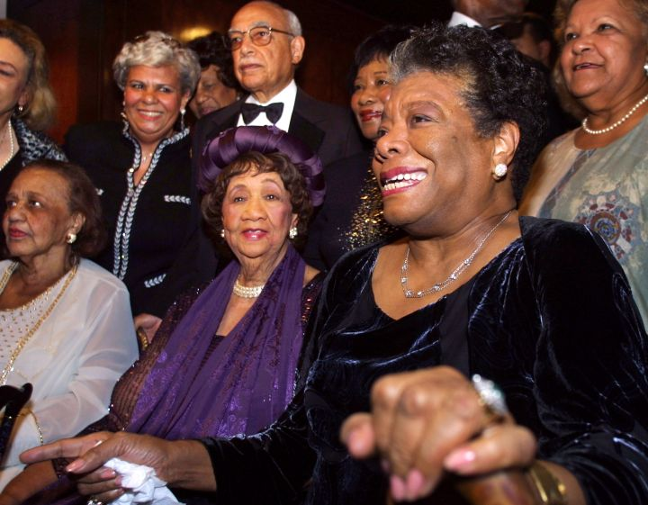 Dr. Angelou pictured with the late civil rights and women's activist, Dorothy Height.