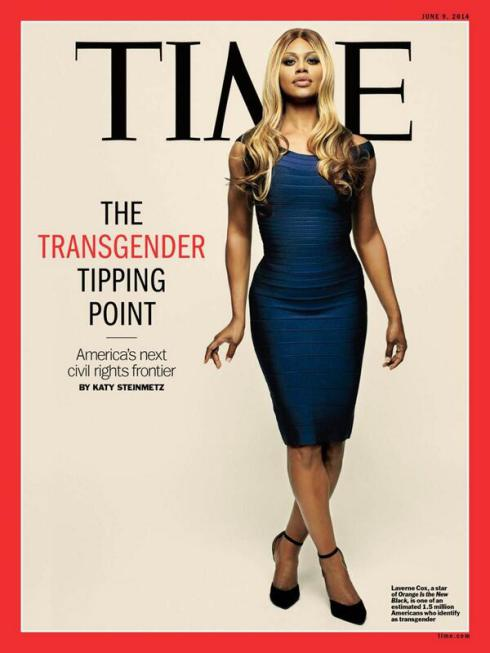 Trans activist Laverne Cox on the cover of TIME.
