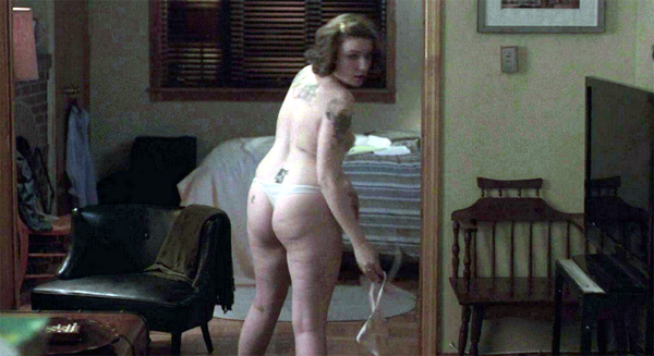 Lena Dunham is naked and loving it.