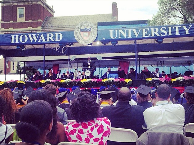Diddy speaks at Howard University's commencement ceremony.