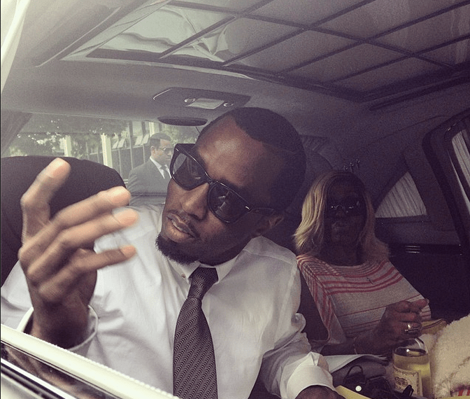 Diddy arrives with his mother at Howard University's commencement ceremony