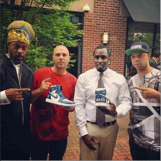 Diddy gets some Howard University sneakers.