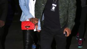 Kelly Rowland Tim Witherspoon holding hands