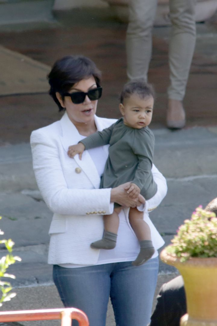 Nori kicked it with Grandma Kris in Florence, Italy during the weekend of KimYe's nuptial.