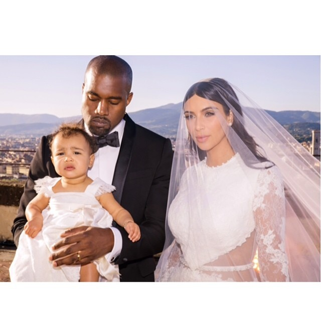 North was beautiful in white at her parents' wedding and solidified herself as a little fashionista.