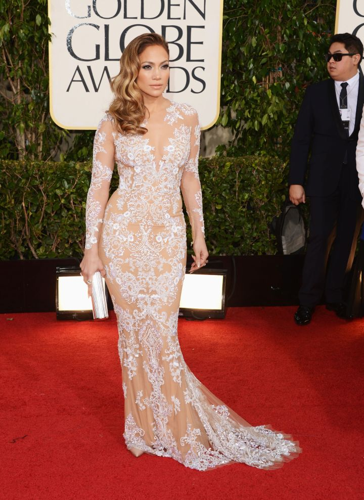 Channeling Old Hollywood glamour at the Golden Globes.