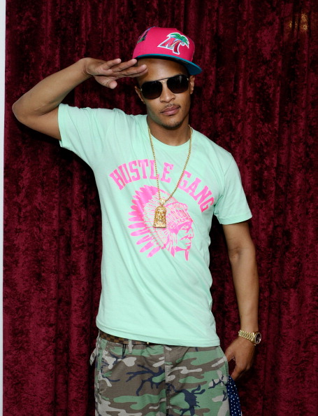 T.I. saluting the fans.
